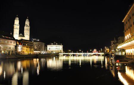Zurich at night photo