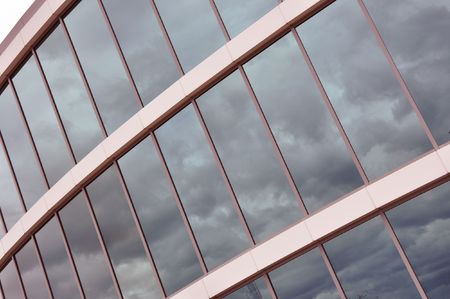 Glass wall of an office building photo