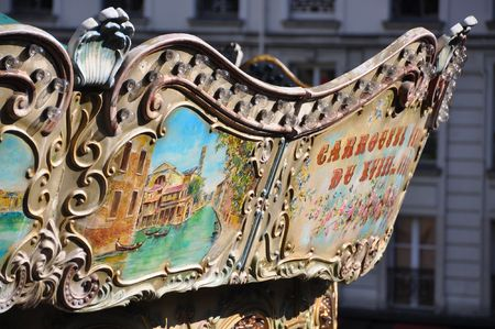turnabout: Traditional Parisian carousel