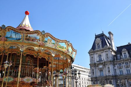 turnabout: Parisian carousel at the City Hall