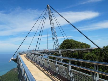 langkawi island: Famous hanging bridge of Langkawi island, Malaysia