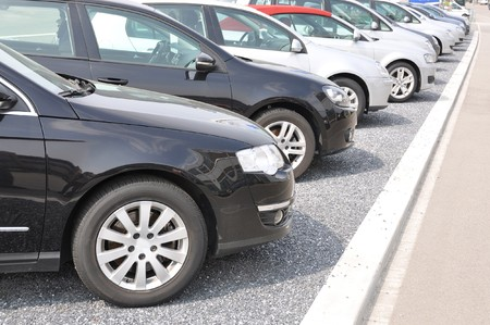 expansive: Row of cars