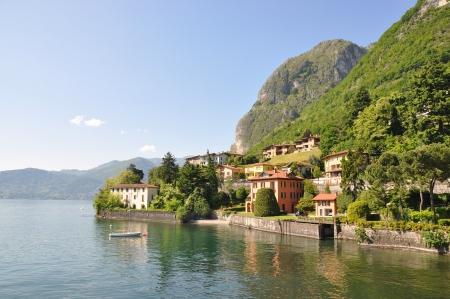 Menaggio town at famous Italian lake Como photo