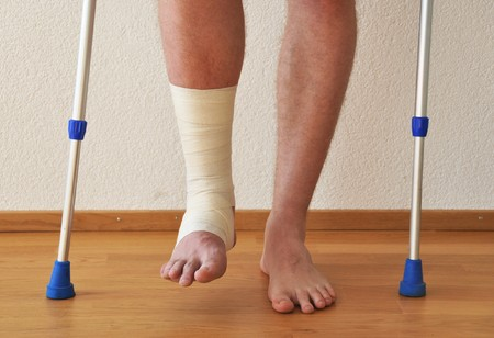 Bandage on the leg Stock Photo - 7409959