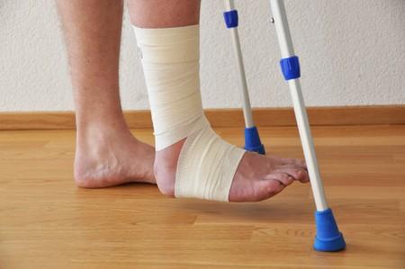 Bandage on the leg photo
