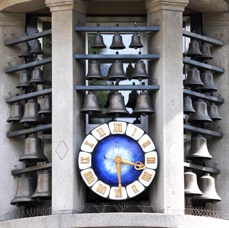 showplace: Famous clock on Bahnhofstrasse in Zurich, Switzerland Stock Photo
