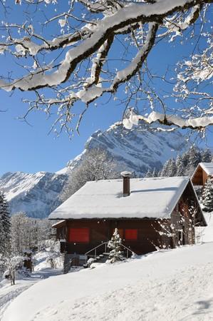snowbank: Alpine scenery, Braunwald, Switzerland