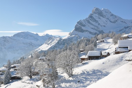 Alpine scenery, Braunwald, Switzerland photo