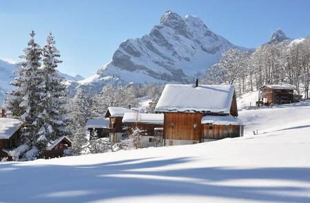 monta�as nevadas: Braunwald, Suiza