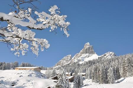 Braunwald, famous Swiss skiing resort photo