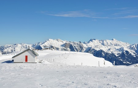 Rescue station in Pizol, famous Swiss skiing resort photo