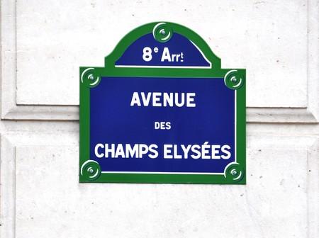 paris street:  Avenue des Champs-Elysees street sign in Paris