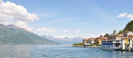 Bellagio town at the famous Italian lake Como  photo