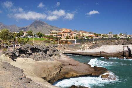 adeje: Rocky coast of Costa Adeje.Tenerife island, Canaries