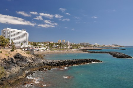 americas: Playa de las Americas. Tenerife Island, Canaries Stock Photo