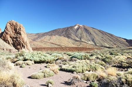 rockslide: Teide volcano. Tenerife, Canaries