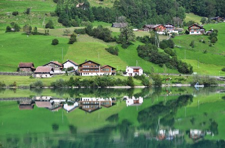 Lungerer lake , Switzerlnd photo