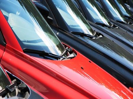 Row of cars photo