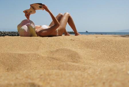 beaches of spain: Beach scene. Playa de la Teresitas. Tenerife, Canaries