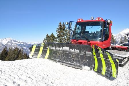 Snowplow in Pizol, famous Swiss skiing resort  photo