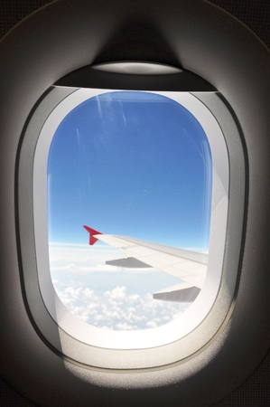 airplane window: Window view