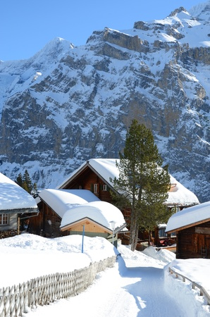 Murren, famous Swiss skiing resort