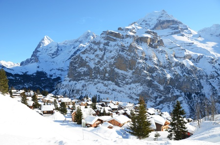 Muerren, famous Swiss skiing resort photo