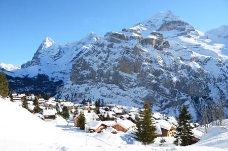alpine hut: Muerren, famous Swiss skiing resort