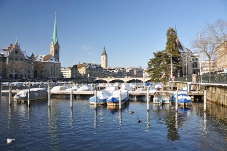 Winter view of Zurich photo