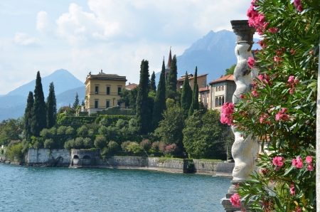 View to the lake Como from villa Monastero  Italy
