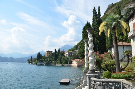 View to the lake Como from villa Monastero  Italy