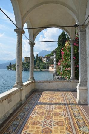 Blick auf den Comer See von der Villa Monastero Italien