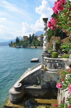 como: View to the lake Como from villa Monastero  Italy
