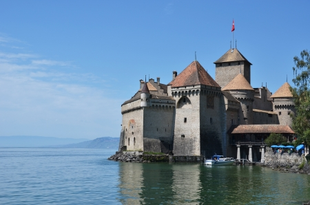 Chillion castle in Montreux, Switzerland