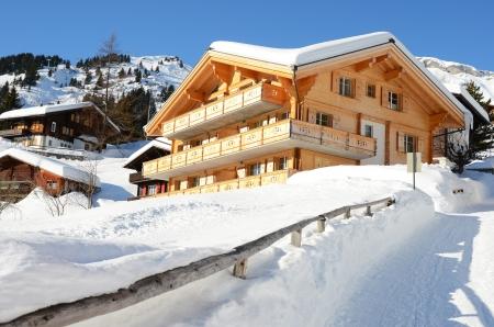 chalets: Muerren, famous Swiss skiing resort