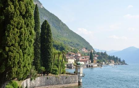 lake como: Lake Como from villa Monastero. Italy  Stock Photo