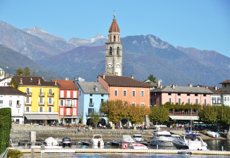Ascona, famous Swiss resort at Maggiore lake