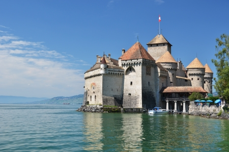 montreux: Chilion castle in Montreux, Switzerland Editorial