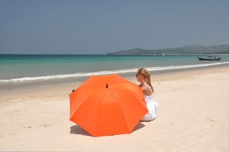 Beach scene  Phuket island, Thailand  photo