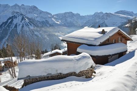 chalets: Alpine scenery, Braunwald, Switzerland