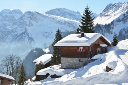 chalets: Braunwald, Switzerland Stock Photo