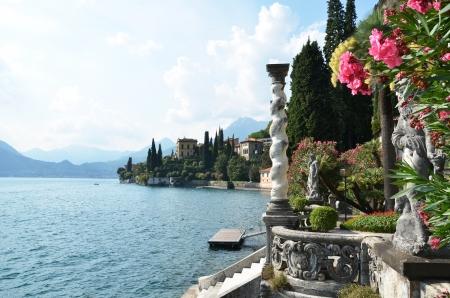 lake como: View to the lake Como from villa Monastero  Italy