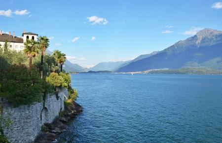 Gravedonna town at the famous Italian lake Como photo