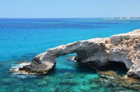 napa: Coast of Cyprus Stock Photo