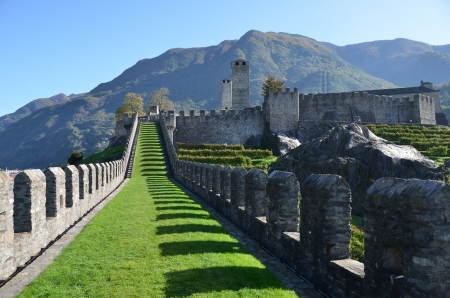 stronghold: Ancient fortifications in Bellinzona, Switzerland