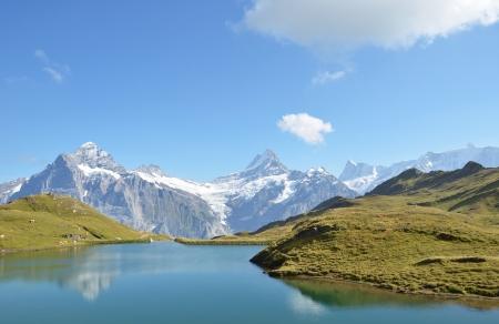 bernese: Bachalp lake in Swiss Bernese Alps