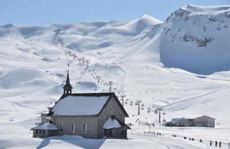 alpine hut: Melchsee-Frutt. Switzerland Stock Photo