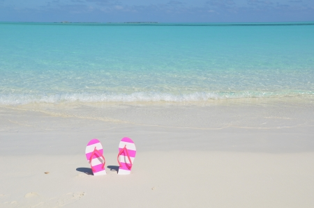 flipflop: Flip-flop on the beach