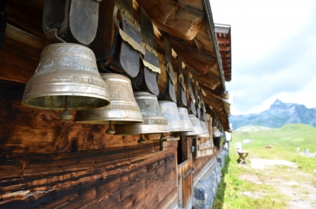Swiss cowbells photo