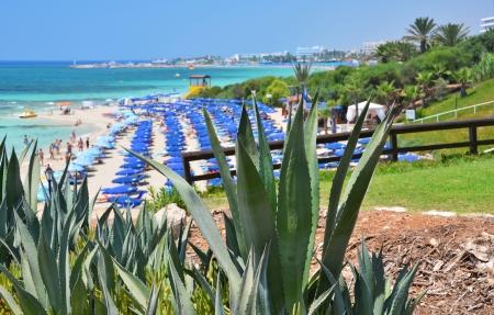 Beach in Ayia Napa, Cyprus photo